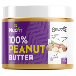 PEANUT BUTTER SMOOTH 500G NUTVIT 100%