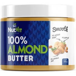 ALMOND BUTTER SMOOTH 500G NUTVIT 100%