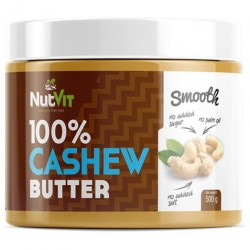 CASHEW BUTTER SMOOTH 500G NUTVIT 100%
