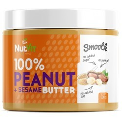 PEANUT BUTTER+SESAME SMOOTH 500G NUTVIT 100%