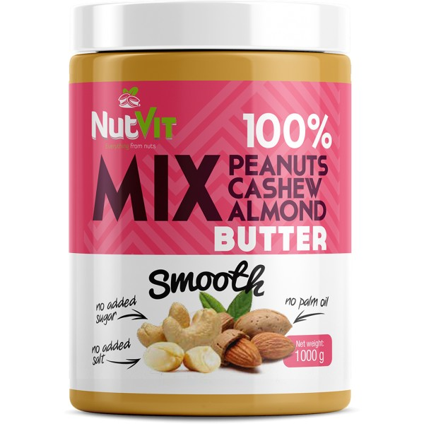MIX BUTTER SMOOTH 1000G NUTVIT 100%