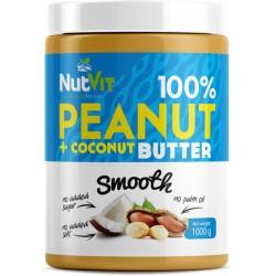 PEANUT BUTTER+COCONUT SMOOTH 1KG NUTVIT 100%