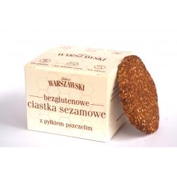 Ciastka sezamowe z pyłkiem pszczelim bezglutenowe 150 g