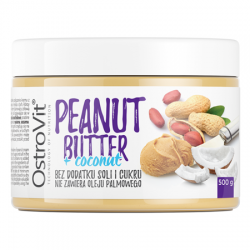 PEANUT BUTTER+COCONUT SMOOTH 500G NUTVIT 100%