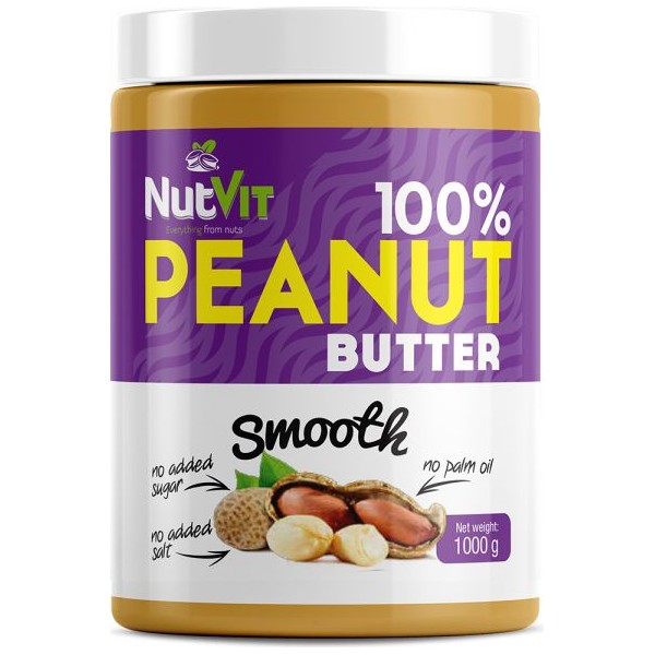 PEANUT BUTTER SMOOTH 1000G NUTVIT 100%